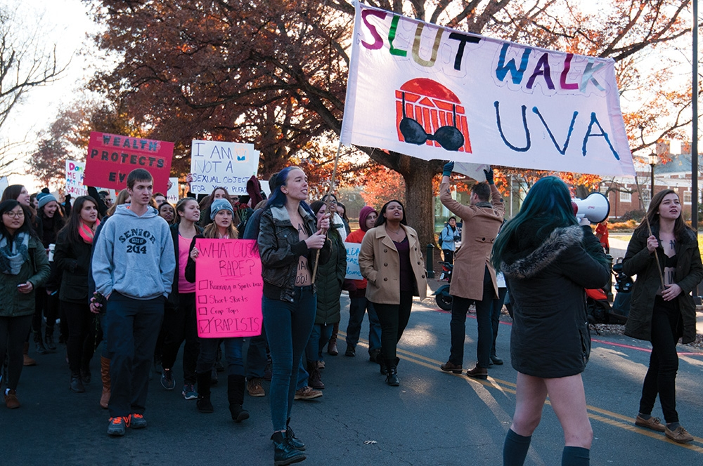 UVa Students at the Slutwalk | Photo from Cavalier Daily 2014