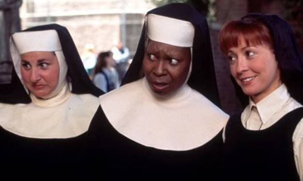 Kathy Najimy, Whoopi Goldberg and Wendy Makkena owning the face game in Sister Act (1992)