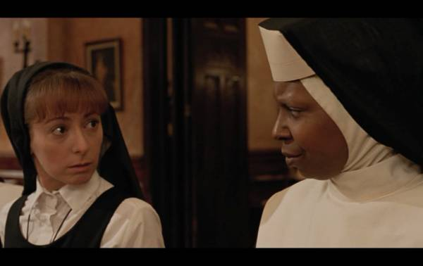 Uncertain attraction in the convent, Sister Act (1992)