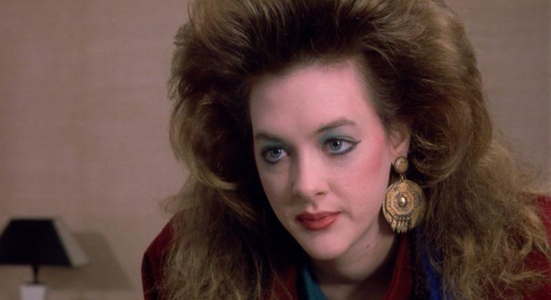 Joan Cusack rocking that green eyeshadow as Cynthia in Working Girl (1988)