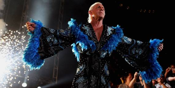 Ric Flair in his legendary robes