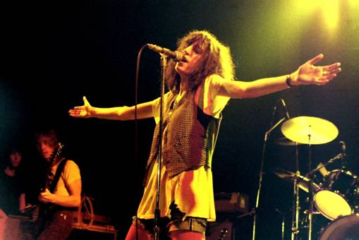Performance with the Patti Smith Group, Germany, 1978 via Wikipedia