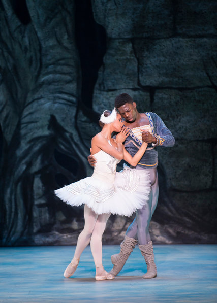 Misty Copeland and Brooklyn Mack in Swan Lake | Photo from the New York Times